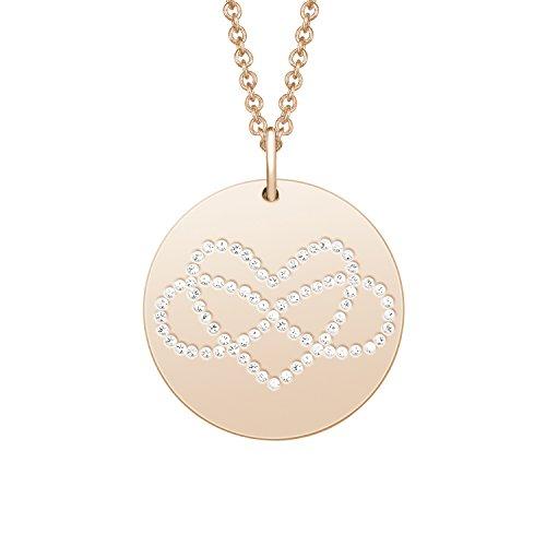 Noelani Damen-Kette mit Anhänger Infinity Herz rosévergoldet veredelt mit Swarovski Kristallen 42+3 cm