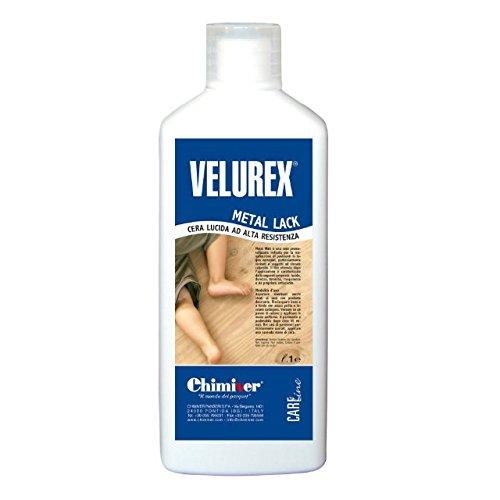 Velurex Metal Lack cera metallizzata per pavimenti rovinati in legno e resina verniciati 1Lt Chimiver