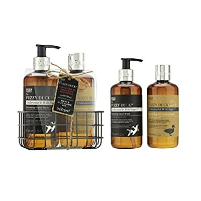 Baylis & Harding Grooming Essentials Bottle Rack, Fuzzy Duck Men's, Cedarwood and Wild Sage