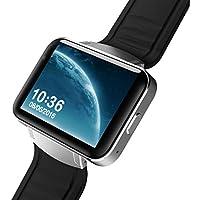 ZfgG Bluetooth Smart Watch Wasserdichte Fitness Tracker Uhr WiFi Schritt 3G GPS Navigation Dual Core Mode Visitenkarte Großen Bildschirm Nur für Android Perfekter Wohnassistent (Farbe : Silber)