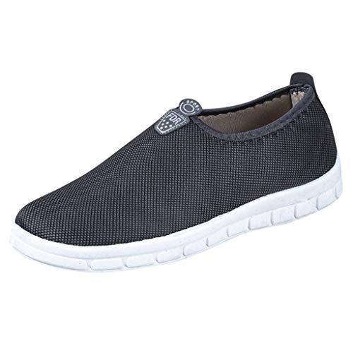 MEIbax Uomo Scarpe Running, Scarpe Casual a Fondo Piatto Traspiranti Sneaker da Lavoro Leggere Eleganti Sport Scarpe Outdoor Fitness Trekking Estive Running Shoes