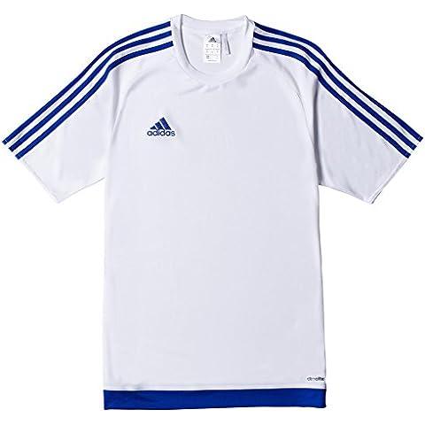 adidas Estro 15 JSY - Camiseta para hombre, color blanco / azul, talla L