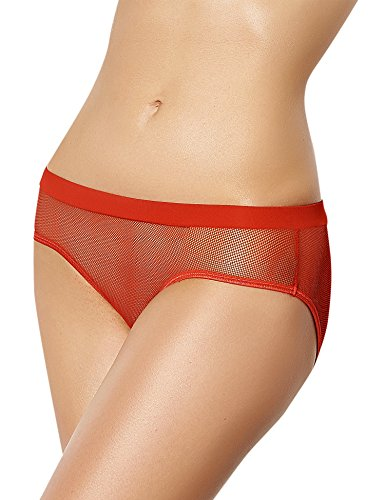 Ohyeah–Slip in rete da donna con apertura posteriore Red