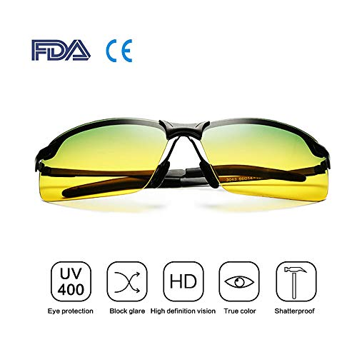 c79c0bccc702 Bloomoak Best Driving Glasses, HD Day & Night Vision Polarized Safety  Glasses for Fishing Driving
