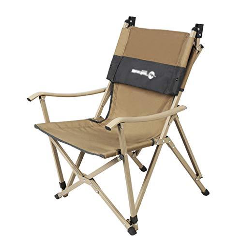 Chaises de pêche Chaise Multifonctionnelle Chaise Pliante Chaise De Direction Chaise Longue Peut Supporter 100 Kg Cadeau (Color : Yellow, Size : 48 * 32 * 98cm)