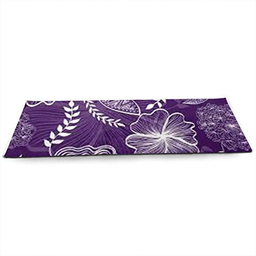 QIAOJIE Yoga Mats Light Pattern Print Crystal Velvet Yoga Mats Extra Long 71 Inch Luxury Eco Friendly Fitness Mat for All Types of Yoga, Pilates & Floor Exercises