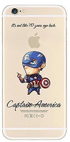 NEW Marvel Avengers Transparent Coque souple en TPU pour Apple iPhone 5/5S/5C 6S & 6+/6carreaux + S * * * * * * * * OFFRE SPÉCIALE * * * * * * * *, plastique, CAPTAIN AMERICA1, Apple iPhone 5/5s