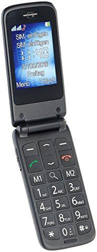 simvalley Mobile Klapphandy: Notruf-Klapp-Handy XL-947 m. Garantruf Premium, Dual-SIM, 6-cm-Display (Klapphandys)