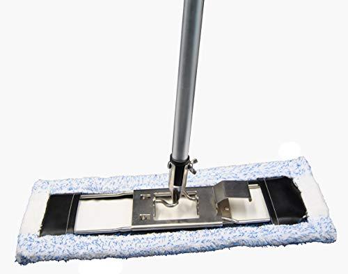 Set bestehend aus Bodenwischer 42 cm Halter aus Metall, Stiel aus Aluminium NEUE VARIANTE, FSP- Tuch BLAUEXTREM geeignet HaRa Vileda u.a.