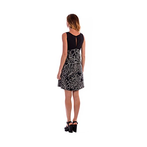 ROBE EMPIRE SANS MANCHES BOW Leave black