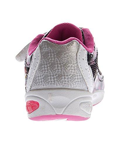 Calçado Sapatos E 22 Marca Velcro Crianças Menina Gr Fúcsia Sapatilha Desportivo 27 Preto Baixos Z01Xq41n