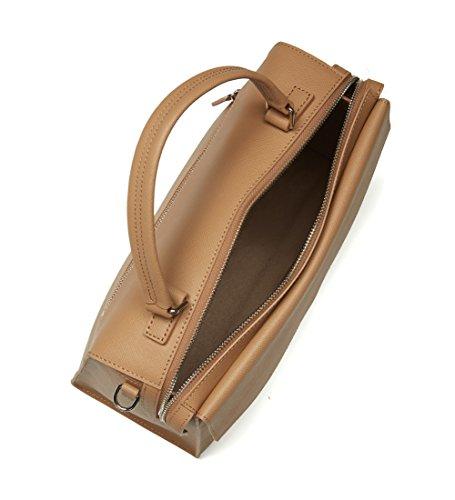 Gsell Sac à main 521-85 Rouge - Lancaster Refente de cuir de vachette nude