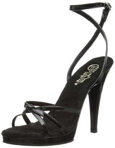 Fabulicious EU-FLAIR-436 Sandals Womens Black Schwarz (Blk pat/blk) Size: 9 (42 EU)