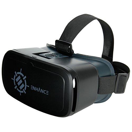Auricolare realtà virtuale di enhance - cuffia vr per smartphone con imbottitura nose comfort e tracolla, oggetto regolabile e distanza pupillare - funziona con google app cardboard, apps e altro