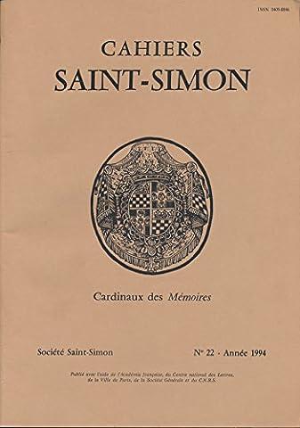 Cahiers Saint-Simon N° 22, 1994 : Cardinaux des