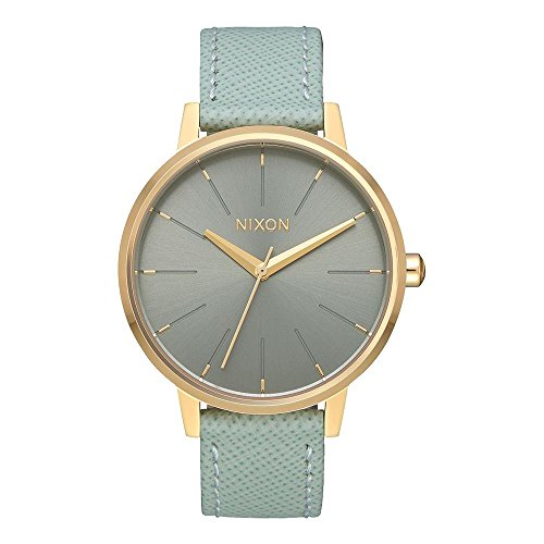 Nixon Damen Analog Quarz Uhr mit Leder Armband A108-2814-00