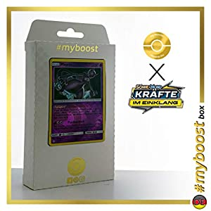 Mewtu (Mewtwo) 75/214 Holo Reverse #myboost X Sonne & Mond 10 Kräfte im Einklang - Caja de 10 Cartas de Pokémon alemanas