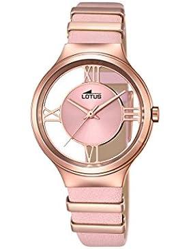 Lotus Damen-Armbanduhr Analog Quarz Leder 18338/1