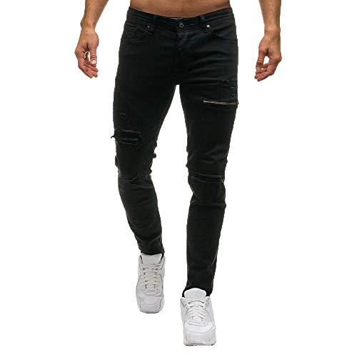 Meibax-pantaloni uomo da pantaloni, attillati da uomo con cerniera in jeans eleganti skinny denim, casual autunno inverno,pantaloni sottile pantaloni elastici skinny jeans