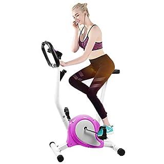 Homgrace Heimtrainer Indoor Fitness Fahrrad Klein Fitnessbike Einstellbare Fahrradtrainer mit LCD Display, Benutzergewicht bis 100 kg (Lila)