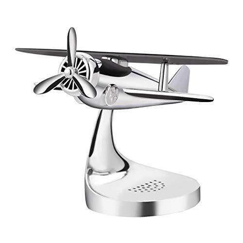 statuen Dekoration Solar Flugzeuge Metallschmuck Herren Auto Parfüm Auto Dekorationen (mehrere Farben erhältlich) wohnaccessoires (Farbe : Silber)