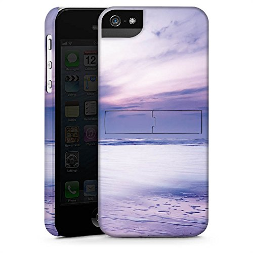 Apple iPhone X Silikon Hülle Case Schutzhülle Lila Wolken Ozean Premium Case StandUp