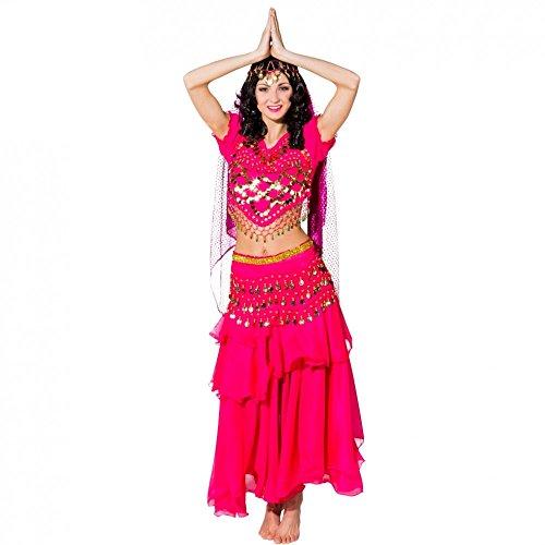 Bauchtänzerin Für Kostüm Erwachsene - Kostüm Bauchtänzerin pink Einhgr. Fasching Orient Bollywood Märchen