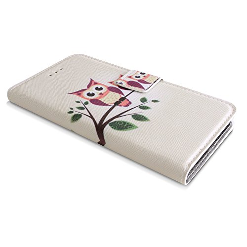 Apple iPhone 6 / 6s Handyhülle inklusive Displayfolie Eulen auf Ast Eulen auf Ast