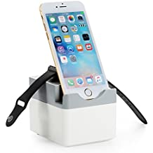 NEXGADGET Base de Carga para Apple Watch [ 17W 3.4A Max ] Estación de Carga Escritorio para iWatch, Fitbit Charge HR, iPhone, iPad, Samsung y la mayoría de los dispositivos USB