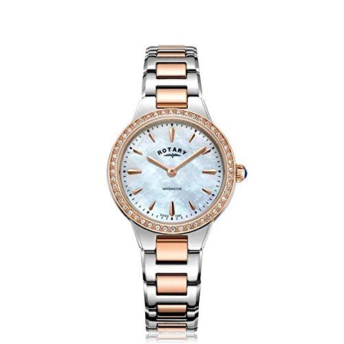 Rotary Reloj kensington de mujer de dos tonos piedra LB05276/41