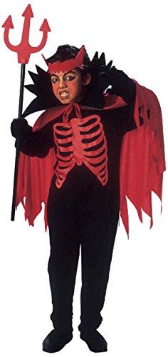 Halloween roter Teufel Kostüm für Jungen 128/140 (8-10 (Jungen Teufel Ideen Kostüm Für)