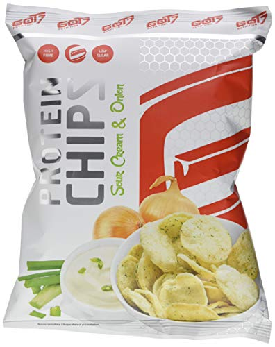 GOT7 High Protein Chips Snack 40{e845e46d7547cb48dc367d96503196be8f5a7254b45f6f592301d5877b81776b} Protein Fitnesssnack - Ideal Zur Diät Fitness Bodybuilding 6x 50g (Sour Cream & Onion)