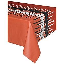 Mantel antimanchas Spoon 50%algodón 50%poliéster con protección de resina y Teflón de Dupont(R) - D150 - Rojo