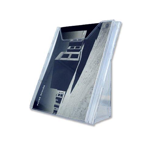 Durable 857819 Prospektspender Combiboxx (A4, 1 Fach, für Tisch- und Wandanwendung) transparent
