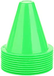 Ponacat 10 Stks Voetbal Markers Training Cone Voetbal Barriers Plastic Marker Houder Accessoire (Rood)
