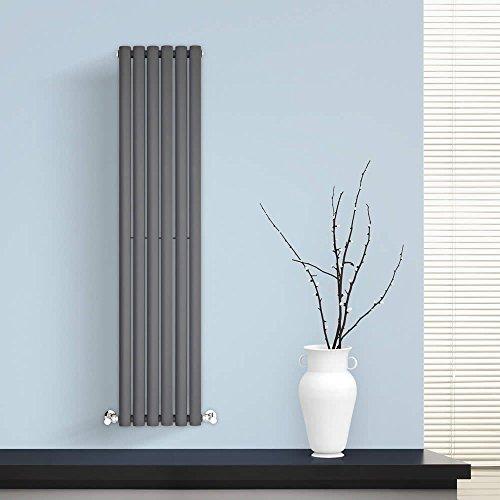 BestBathrooms Design-Heizkörper Vertikal Anthrazit - 1400 x 354 mm - Premium Paneelheizkörper für Zentralheizung - Einlagig - Perfekt für Küche, Bad & Wohnzimmer