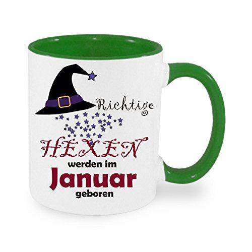 Creativ Deluxe Richtige Hexen Werden im Januar geboren - Kaffeetasse mit Motiv, Bedruckte Tasse mit Sprüchen oder Bildern