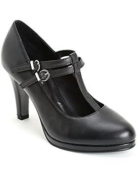 [Sponsorizzato]ALESYA by Scarpe&Scarpe - Scarpe col Tacco con T-bar e doppio cinturino, in Pelle