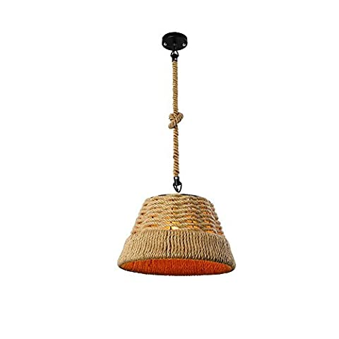 Lampe Simple Corde au Chanvre Lustre Rétro Industriel Pendentif Restaurant Magasin de Vêtements Plafonnier