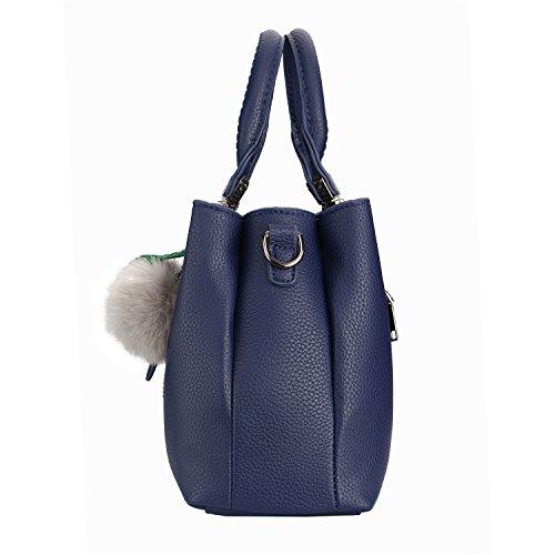Moda Borse Borsa a Mano Donna Handbag Per Lavoro Scuola Viaggio Party Regalo Business Vari Colori-LATH.PIN Blu