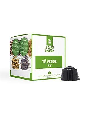 FRHOME - 48 Capsules compatibles Nescafè Dolce Gusto - Thé vert earl grey - Il Caffè Italiano