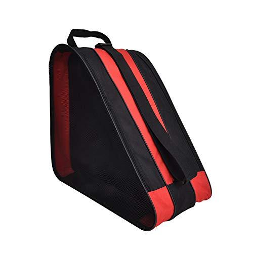 Rollschuh-Tasche - Schulter Oxford-Stoff-Tragerolle Atmungsaktive Triangel-Rollschuh-Tasche - Tasche zum Tragen von Schlittschuhen, Rollschuhen, Inlineskates für Kinder und Erwachsene(rot)