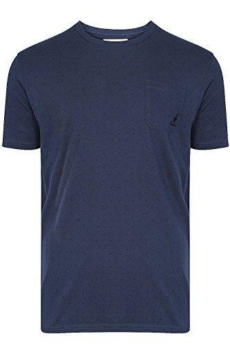 Herren Kangol Stott T-shirt Baumwolle Brusttasche Subtil Diamant Aufdruck T-shirt Top Mitternacht Marineblau