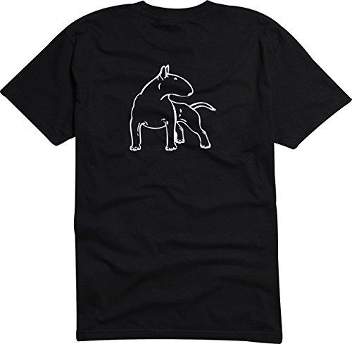 T-Shirt Herren - BULL TERRIER dog Schwarz