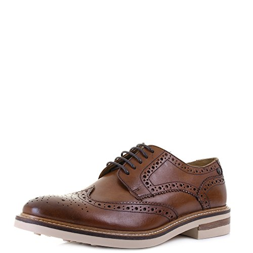 Base London Mens Apsley Leather Shoes 248°tan