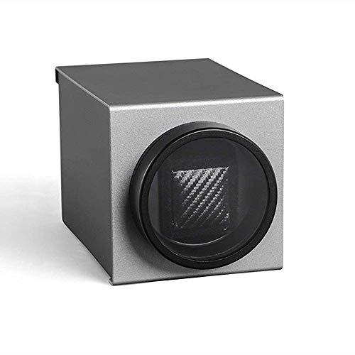 HYCy Automatik Single Uhrenbeweger,Mit Ruhig Motor Und PU Kissen,4 Drehung Modus Rahmen,Passend Fuuml;r Damen Und Herren Handgelenk (Farbe : SCHWARZ)