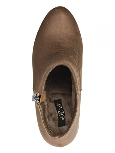 CASPAR SBO047 Damen Ankle Boots Braun