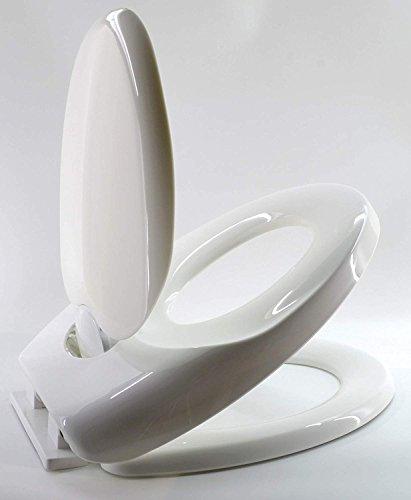 Family-Comfort Duroplast WC- Sitz – 2 in 1 Doppelter WC Sitz – Kindersitz + klassischer Sitz mit Absenkautomatik, Antibakteriell