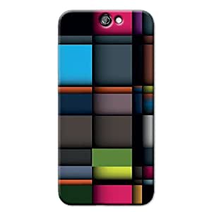 COLORFUL SQUARES BACK COVER FOR HTC ONE A9