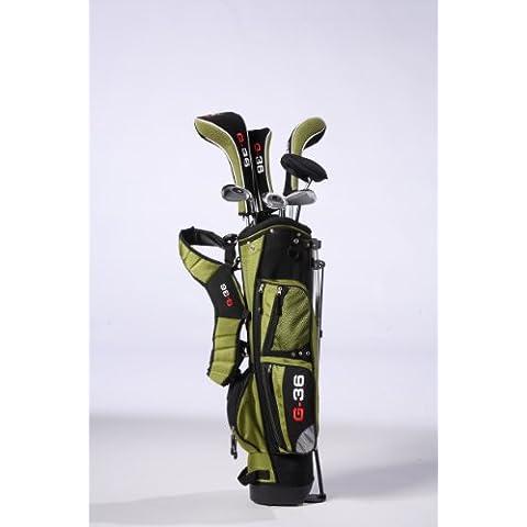 Golf36 600-AKSET3GRB09 - Juego completo de palos de golf ( híbrido ) , color verde, talla 3